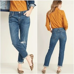 Old Navy Mid-Rise Boyfriend Distressed Jeans